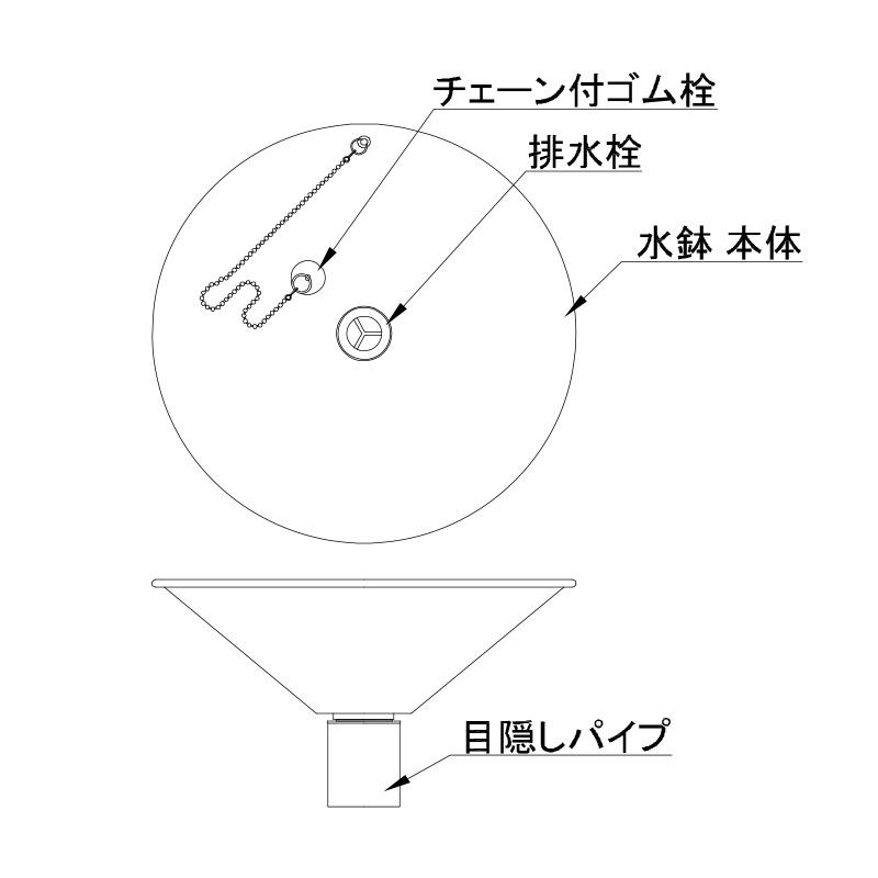 【水受け】ステンレスパン コーン