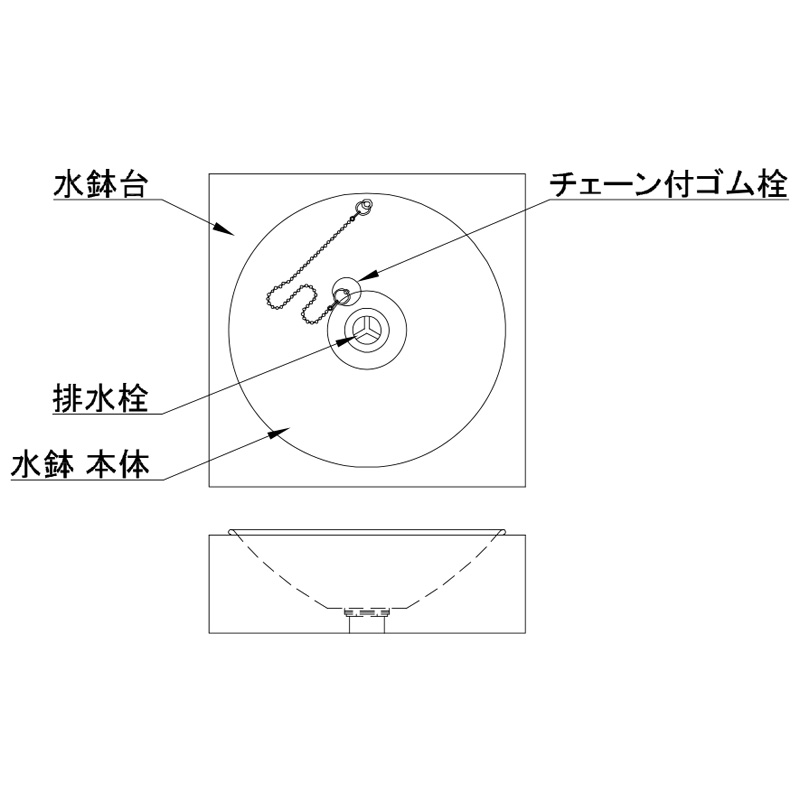 【水受け】ステンレスパン スクエアステンレス