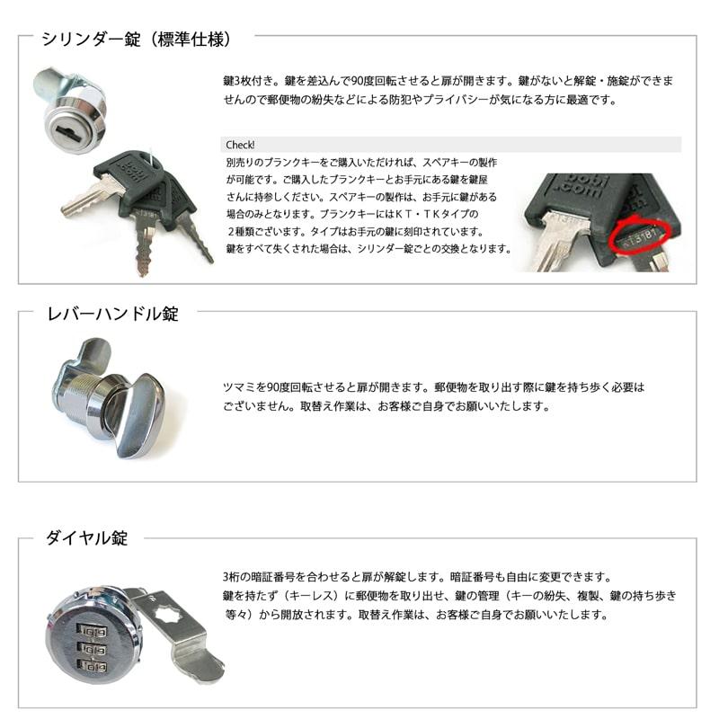 【シリンダー錠】 ボビ郵便ポスト専用 ※公式