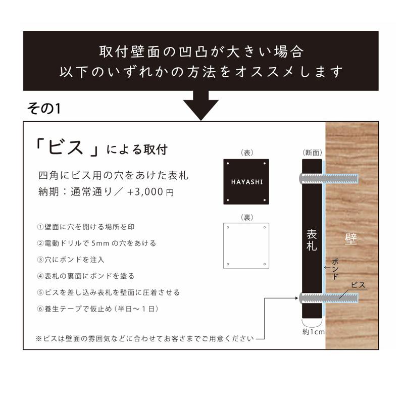 デニム表札 Aタイプ【24×8cm】/ダークブラウン