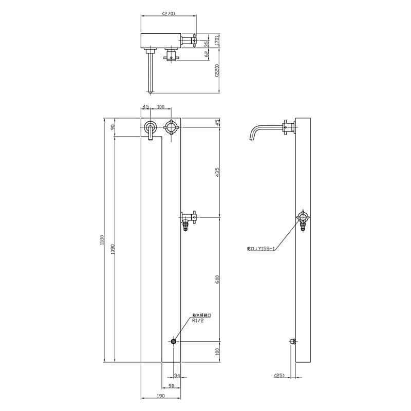 【立水栓・水栓柱】L Style (327G)※単水栓