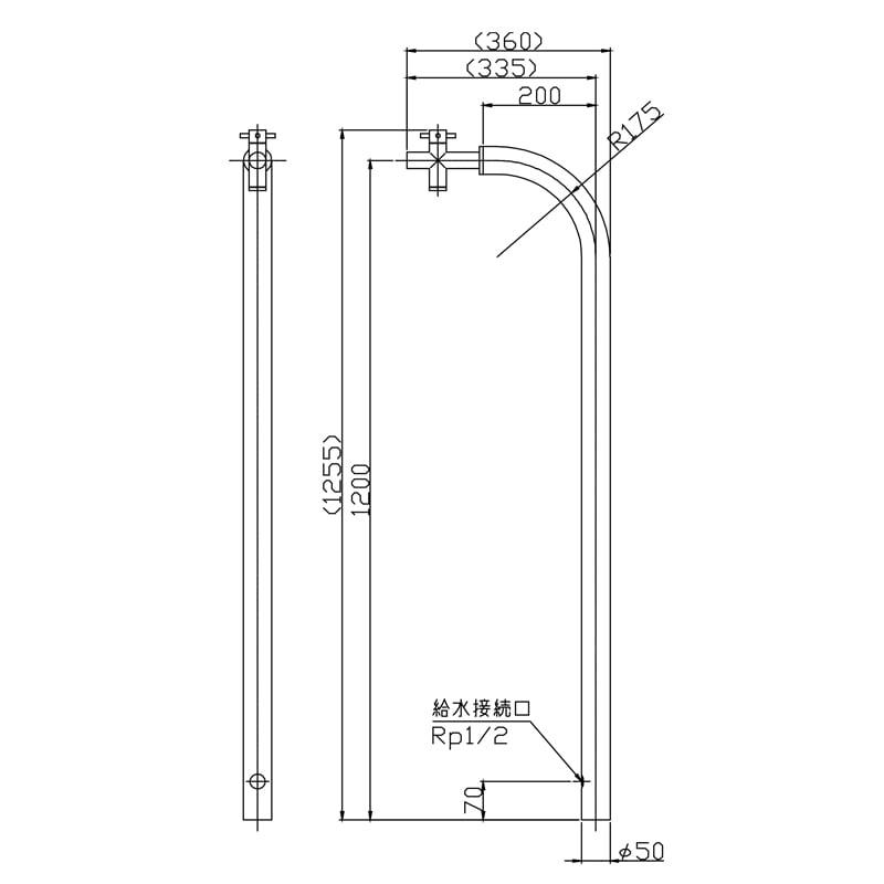 【立水栓・水栓柱】Smart Tap トール(単水栓)