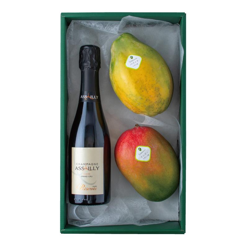シャンパン・フルーツ詰合せ (パパイヤ・マンゴー)