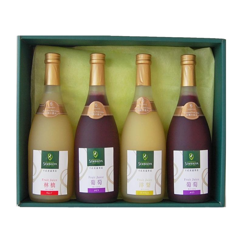 収穫の恵み プレミアムフルーツジュース 4本入