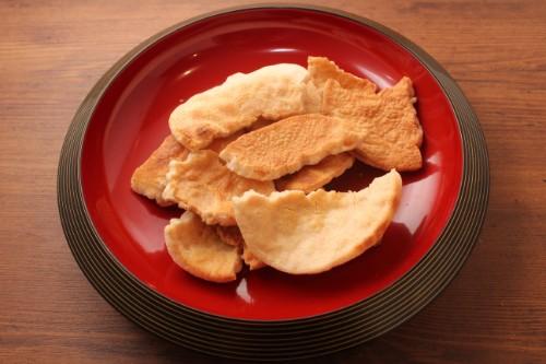 素焼き煎餅 やや堅焼