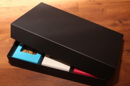 三角カートン用、空の贈答箱3個入りバージョン