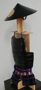 鎧・兜 甲冑組立キット 黒色具足 『足軽』                 鋳物風 塗装仕上げ
