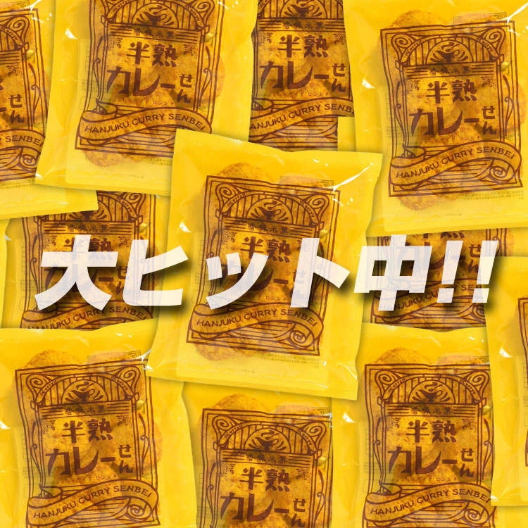 半熟カレーせん(ぬれ煎餅)80g ●5袋以上ご購入で送料30%OFF●