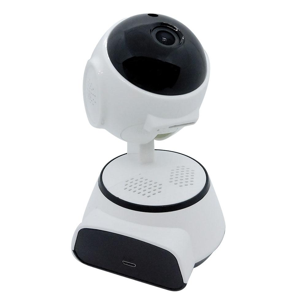 スマホでいつでも見守り 360度追いかけ機能付き ワイヤレス見守りカメラ スピーカー・録画機内蔵 【SEC-WTF-360D-A】