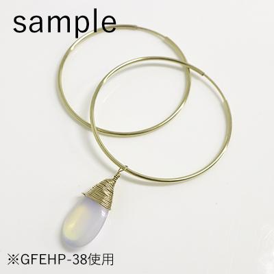 14KGF ゴールドフィルド エンドレスフープピアス38mm GFEHP-38 φ0.7mm×38mm