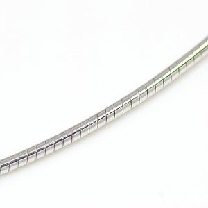オメガチェーン ラウンド(ロジウムメッキ)幅1.0mm 380-100-R SV925