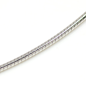 オメガチェーン ラウンド(ロジウムメッキ)幅1.25mm 380-125-R SV925