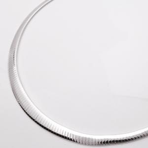 SV925 グラデーションオメガチェーン 平タイプ 幅3.3〜6.0mm 520-021-40