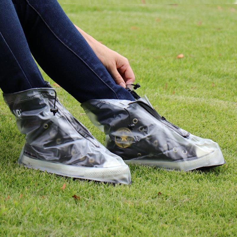 大事な靴を守るシューズレインカバー 急な雨も雪も、これさえあれば大丈夫 A/D2 アウトドアやフェスにも 雨の日靴が濡れない方法 フロントファスナー
