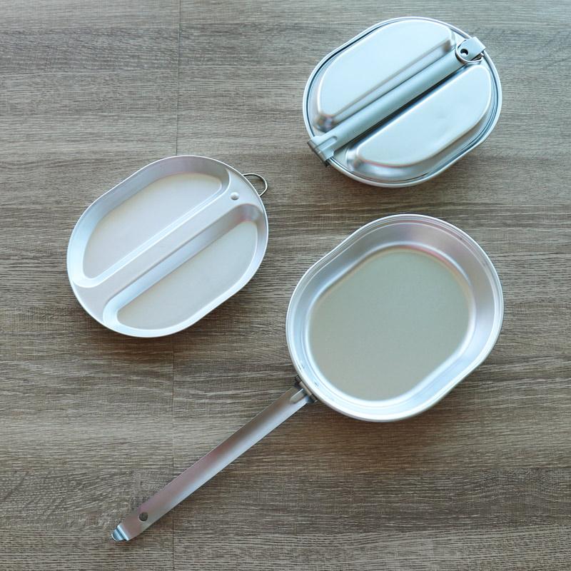 鍋として、お皿として、2WAYで使える。キャンプ、登山に。軽くてコンパクトなフライパンです。フタがお皿になるから、洗い物も少なく済む。汚れたまま、フタをして持ち帰れる。