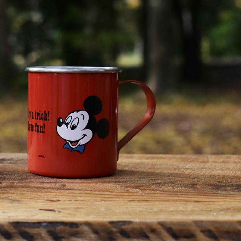 ミッキーのステンレスマグカップ 衝撃に強く丈夫 アウトドアでもおすすめ 家でも外でも、お気に入りのマグでおいしい時間を キャンプ アウトドア