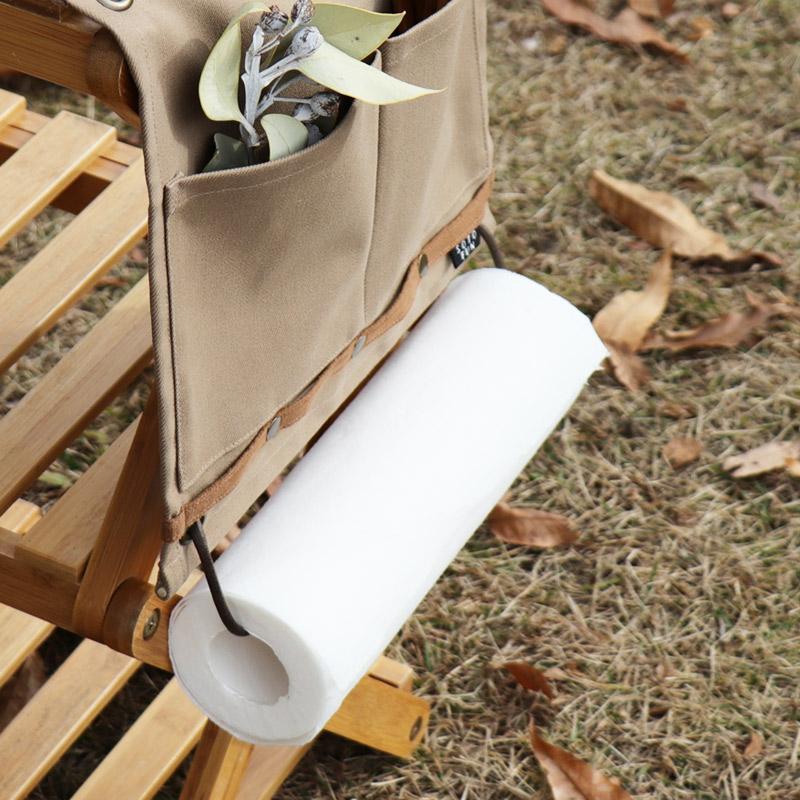 ウォールポケットで壁面収納、ぶらさげ収納 使うところに、気軽に設置できるポケット キャンプやアウトドアにも便利