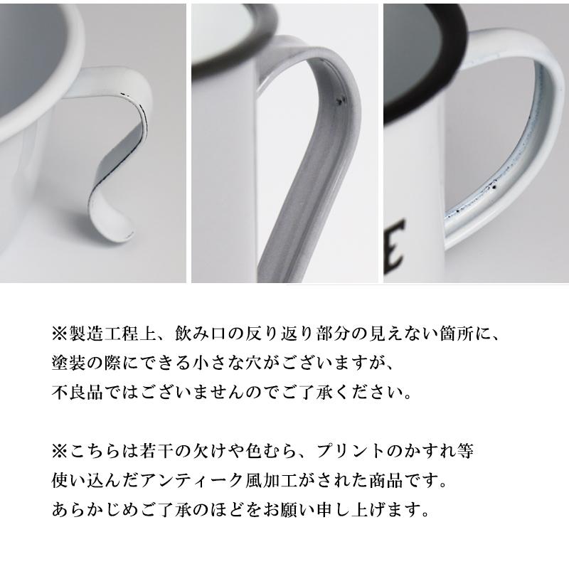 ホーローマグカップ 2個セット 耐熱性に優れ、美しい質感の琺瑯製マグ スープやデザートにも //宅配便発送のみ
