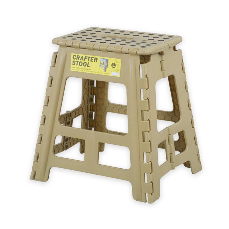 アウトドアやピクニック、室内での踏み台として シーンを選ばず使えるスツール Lサイズ
