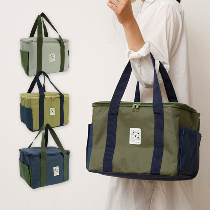 シンプルな保冷バッグ 自然になじむカラーのクーラーバッグ でサイトをおしゃれに ピクニックやイベントにも使いやすいサイズ