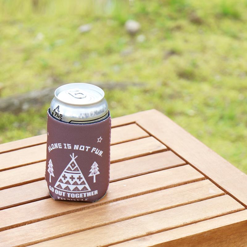 保冷もできて、水滴対策にもなる缶ホルダー キャンプ、アウトドアに
