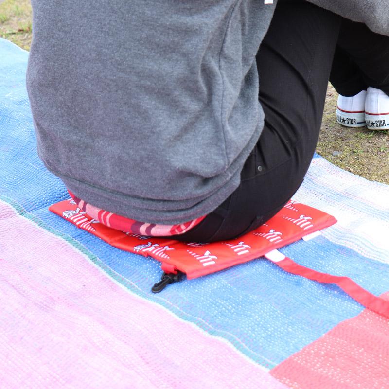 ピクニックやお座敷スタイルでのキャンプに便利 リサ・ラーソンのクッション 北欧の雰囲気でほっこり幸せ気分 花火や運動会などイベント時に使える折りたたみクッション