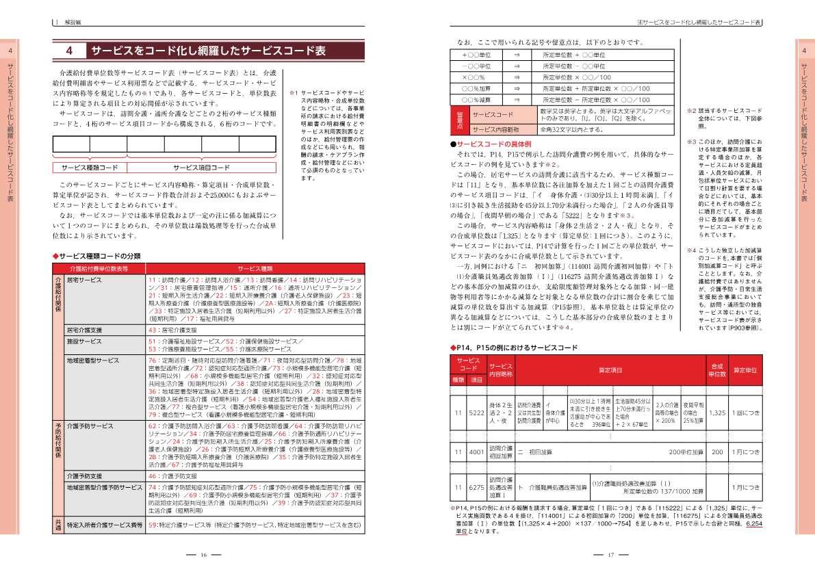 介護報酬 サービスコードと算定構造 令和3年4月版