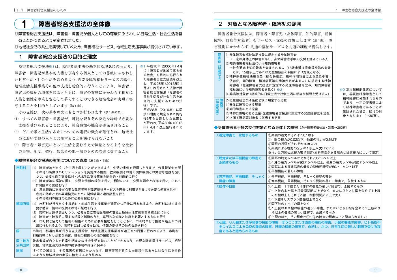 障害者福祉ガイド 障害者総合支援法の解説 令和3年4月版