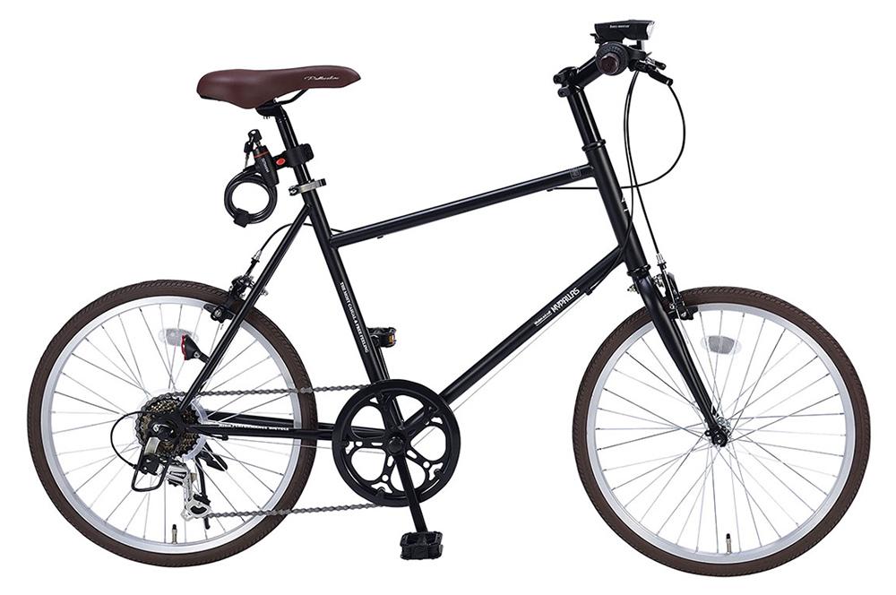 ミニベロ/小径自転車 池商 マイパラス M-706(BK) マットブラック 20インチ