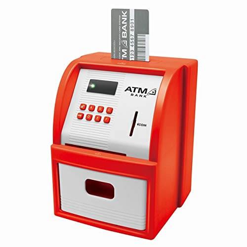 【新品】LITHON ライソン ATMセキュリティーバンク ATM型貯金箱 レッド KTAT-001R