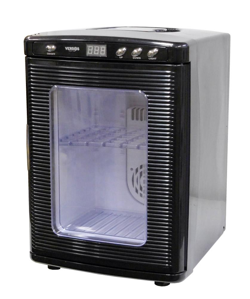 【中古】VERSOS ベルソス 小型冷温庫 容量約25L 右開き ブラック VS-404BK