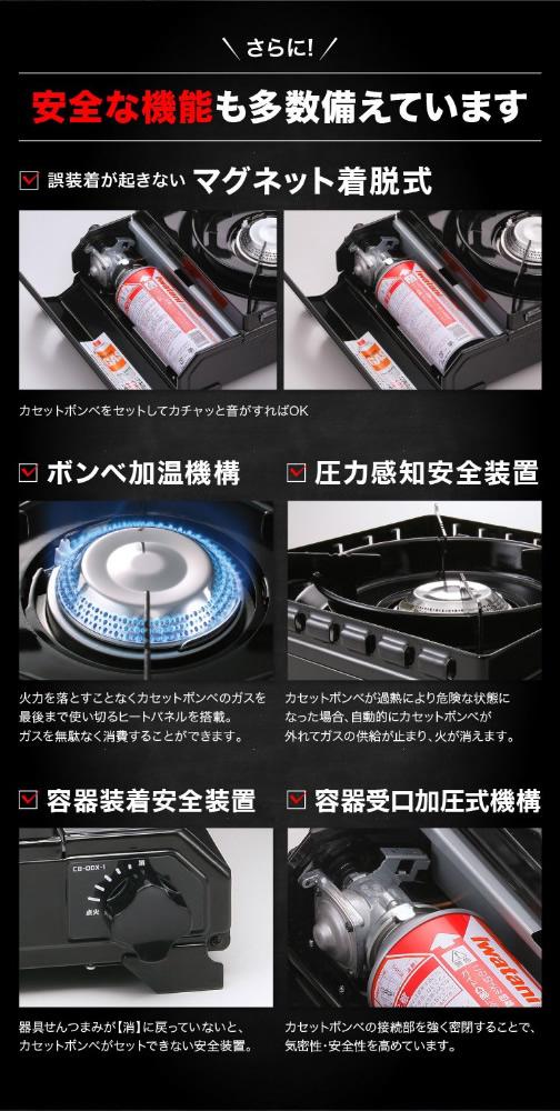 【新品】IWATANI イワタニ カセットフー タフまる ForeWinds 耐荷重20kg アウトドアこんろ ブラック CB-ODX-1