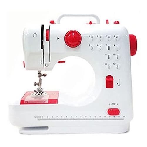 【新品】【送料無料!】SIS エスアイエス コンパクト電動ミシン フットペダル付き 縫い目12種類 コードレス対応 [ レッド ] FHSM-505B-RD