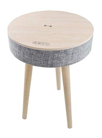 【新品】CICONIA サウンドテーブル テーブル型スピーカー Bluetooth5.0対応 ワイヤレス充電対応 工具不要組み立て式 ホワイト STC-109BBT-WH