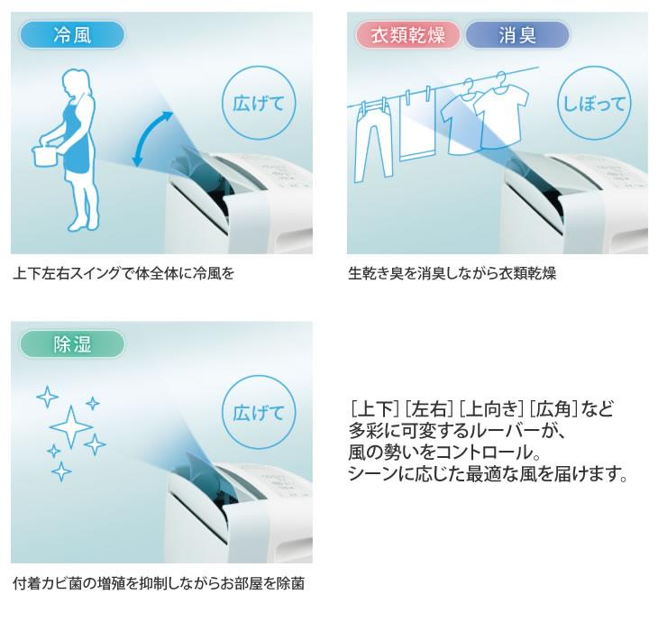 【新品】SHARP シャープ 冷風・衣類乾燥 除湿機 コンパクトクール プラズマクラスター7000 アイスホワイト CM-J100-W