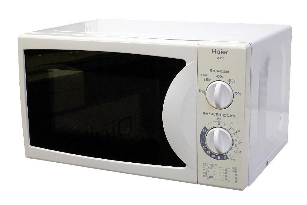 【中古】Haier ハイアール 東日本50Hz専用 電子レンジ 17L 2012年製 ホワイト JM-17C
