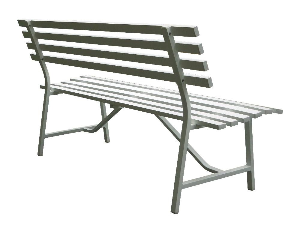 屋外・お庭・テラスに最適!【新品】【送料無料!】アルミ製 背もたれ付き 3人掛けベンチ ガーデンベンチ 組み立て式 耐荷重:約300kg カラー:ホワイト(白)