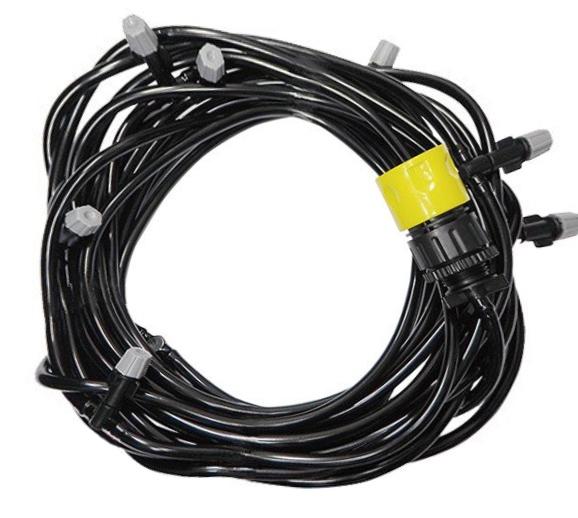 【新品】株式会社アクセル ガーデンミストクーラー 屋外専用 電気不要 ノズル数:10個 長さ:約10m AXL-290