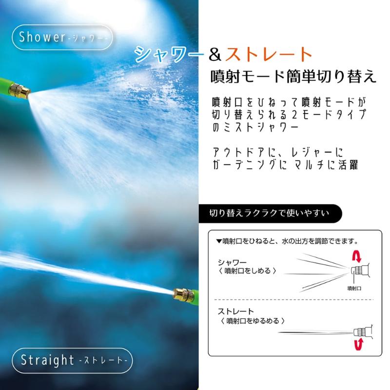 【新品】【送料無料!】MACROS マクロス 手動ポンプ式 2モード ミストシャワー 容量約2.0L シャワー&ストレート 連続噴射可能 MCZ-175