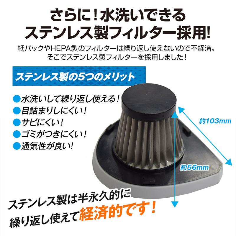 【新品】【送料無料!】Mitsukin 三金商事 車載用 Wet&Dry ハンディークリーナー シガー電源方式 LEDライト搭載 紙パック不要 ブラック CL-H01-BK