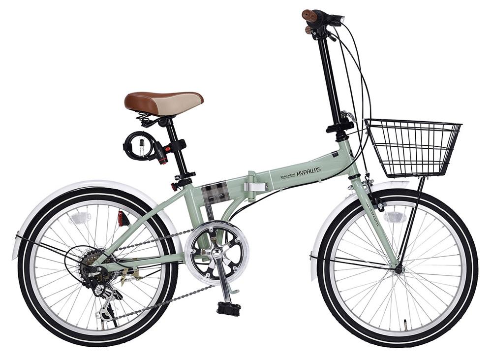 折りたたみ自転車 池商 マイパラス MF206 NOEL(KH) カーキ 20インチ
