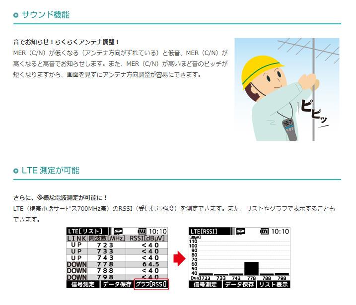 【新品】【送料無料!】MASPRO マスプロ電工 デジタルレベルチェッカー ハンディタイプ 4K・8K衛星放送対応 信号レベル測定器 LCT5