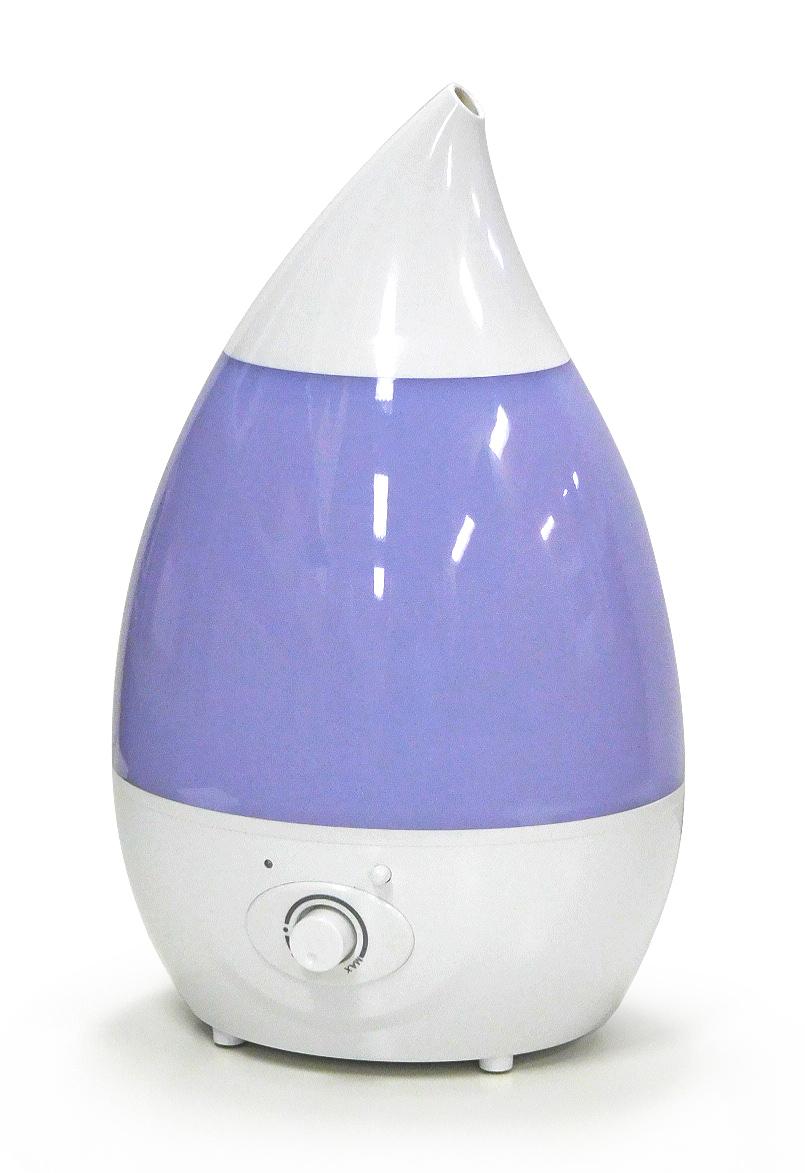 【新品】【送料無料!】SIS エスアイエス 上から給水できる 超音波加湿器 H2O 最大加湿量250ml/h タンク容量1.6L LEDライト付き アロマ対応 ホワイト SRH106-W