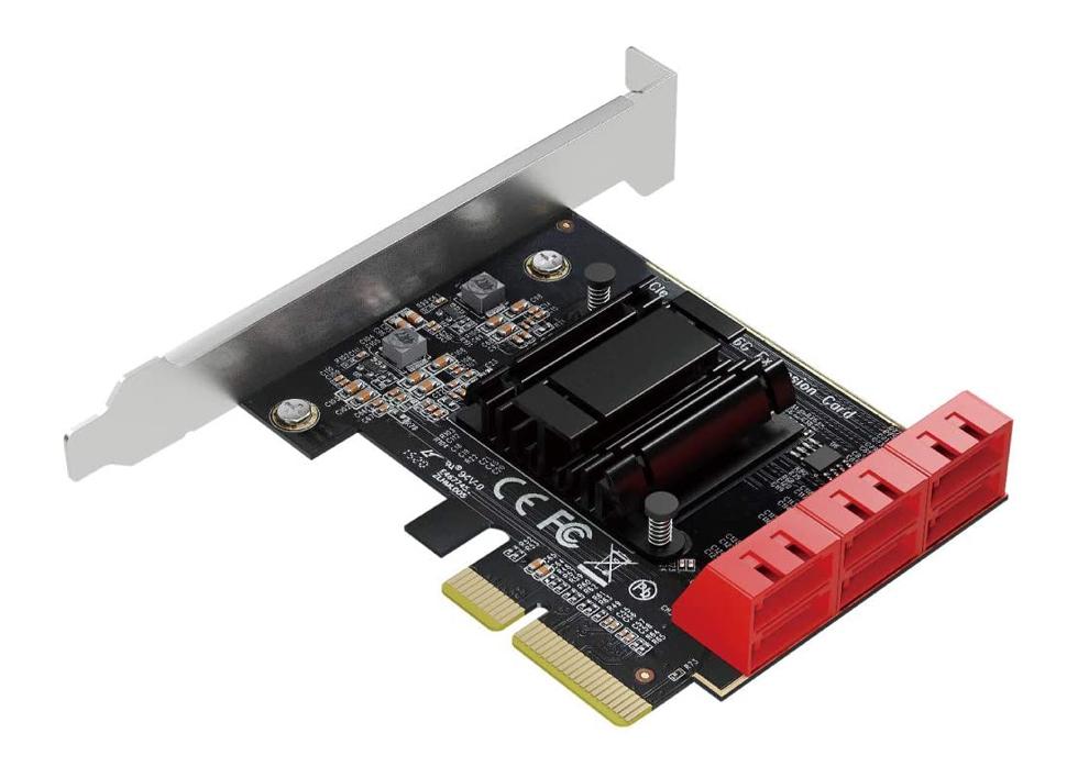 【新品】【送料無料!】AREA エアリア V6 NA 高速SATAポートを6個増設するPCIEx4ボード SATA拡張ボード SD-PE4SA-6L