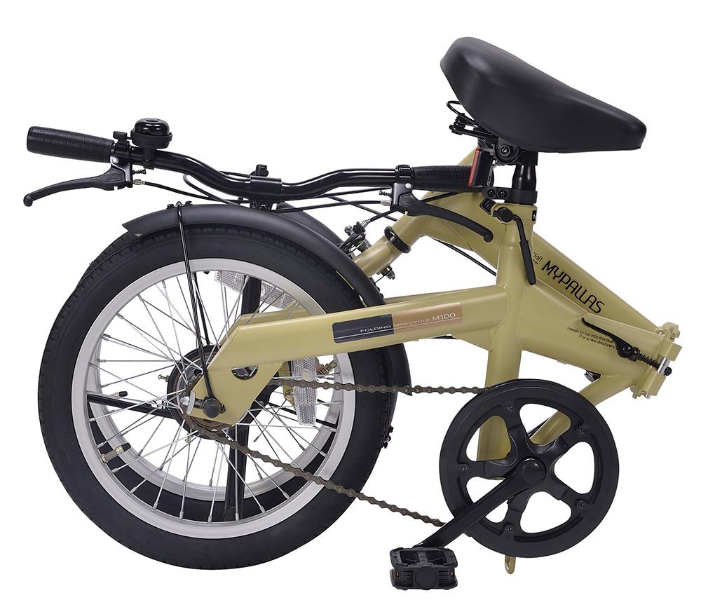 折りたたみ自転車 池商 マイパラス M-100(CA) 16インチ (カフェ)【新品】【送料無料】【沖縄/離島配送不可】【代引き不可】