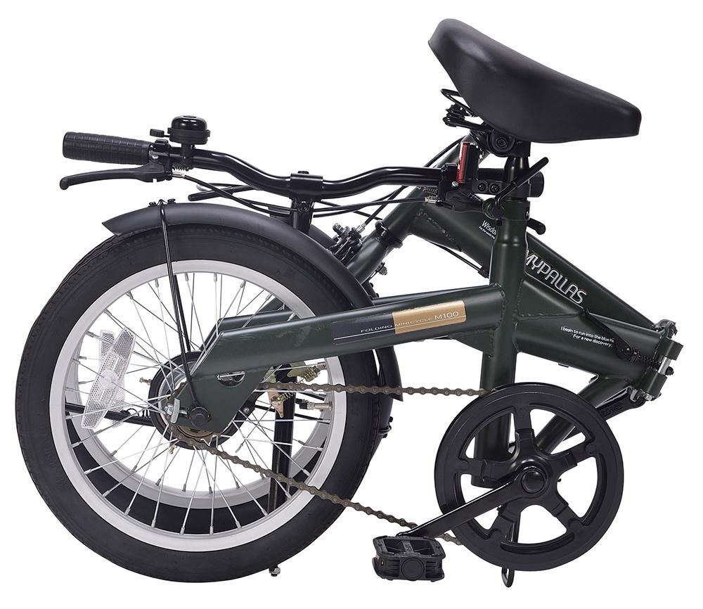 折りたたみ自転車 池商 マイパラス M-100(GR) グリーン 16インチ