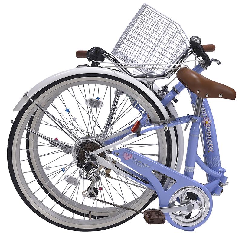 折りたたみ自転車 子供用 M-804F(BL) ラベンダーブルー 24インチ