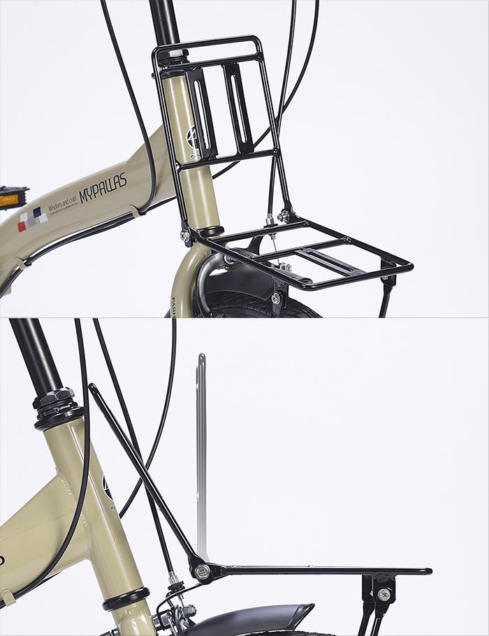 折りたたみ自転車 池商 マイパラス M-205N(W) 20インチ 6段変速 フロントキャリア付き (ホワイト)【新品】【送料無料】【沖縄/離島配送不可】【代引き不可】