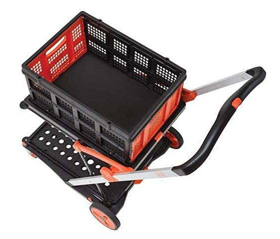 【新品】【送料無料!】BLACK&DECKER ブラック&デッカー BOX付2段式 プラットフォームカート BXWT-H204