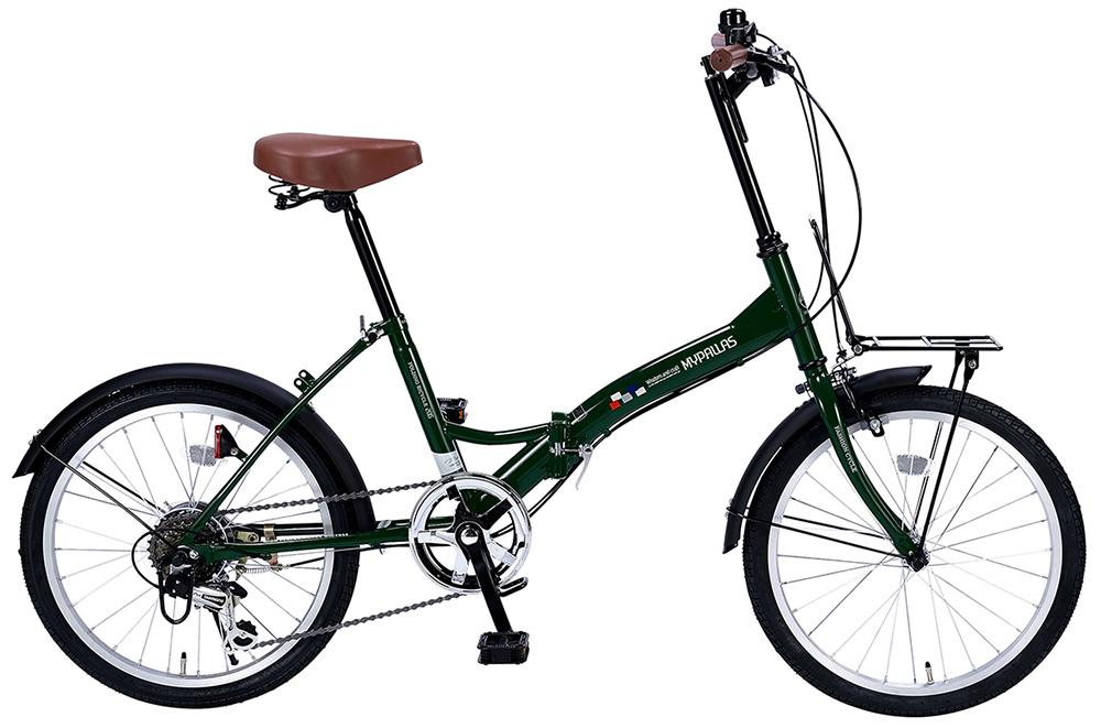 折りたたみ自転車 池商 マイパラス M-205N(GR) モスグリーン 20インチ